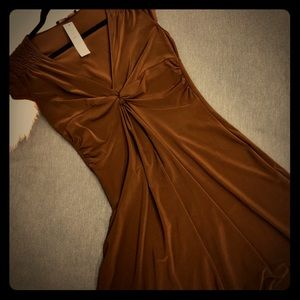 NWT Laundry by SS Dk Brown Knee-Length Dress sz10